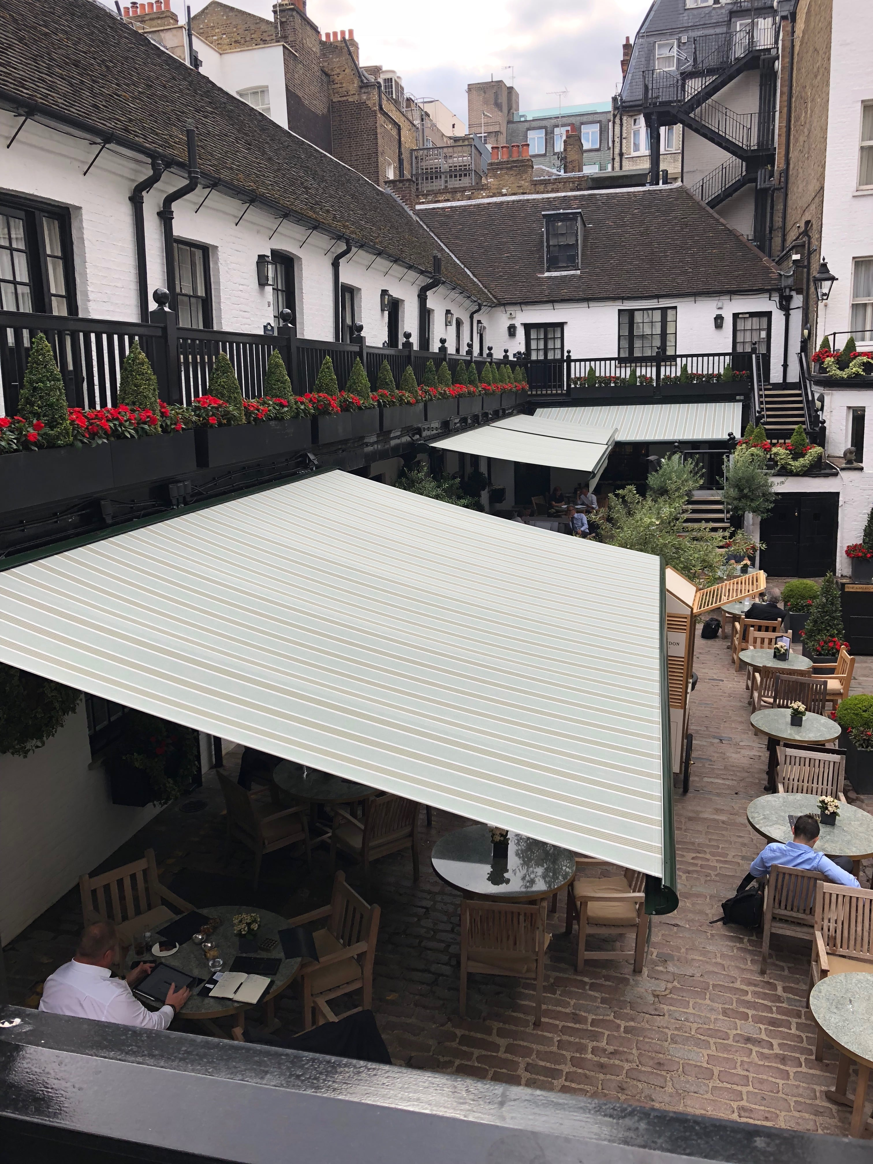 Full Cassette Awnings With Lights And Heaters Radiant Blinds And